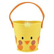 Bunny Essentials Felt Pail Chick And Bunny