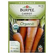 Burpee Carrot Seeds, Danvers 126 Half Long Organic