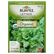 Burpee Lettuce Seeds, Black Seeded Simpson Organic