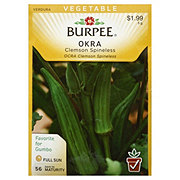 Burpee Okra Seeds, Clemson Spineless