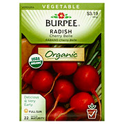 Burpee Radish Seeds, Cherry Belle - Organic