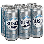 Busch Light Beer 6 PK Cans