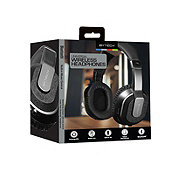 Bytech Chrome Bluetooth Headphones With Case Black
