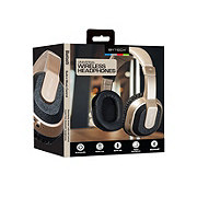 Bytech Chrome Bluetooth Headphones With Case Gold