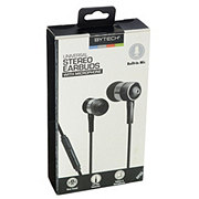 Bytech Headphones With Microphone, Black