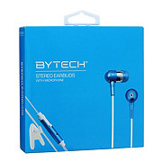 Bytech Headphones With Microphone, Blue