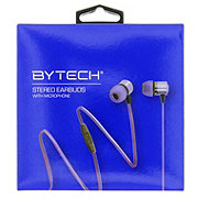 Bytech Metallic Earbuds With Microphone - Blue