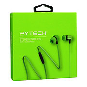 Bytech Metallic Earbuds With Microphone, Green