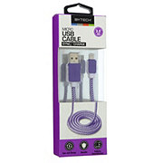 Bytech Micro USB Charge/ Sync Stitch Cable Colors May Vary