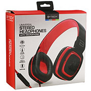 Bytech Oval Cushioned Headset With Microphone Black/red