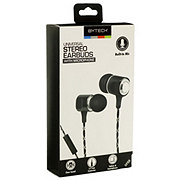 Bytech Stereo Earbuds With Microphone Black