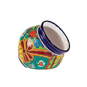 Cactus Imports & Pottery Small Talavera Cuban Pot