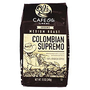 Cafe Ole by H-E-B Colombian Bucaramanga Supremo Medium Roast Ground Coffee