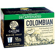 Cafe Ole by H-E-B Colombian Decaf Medium Roast Single Serve Coffee Cups