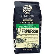 Cafe Ole by H-E-B Espresso Decaf Dark Roast Whole Bean Coffee