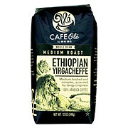 Cafe Ole by H-E-B Ethiopian Yirgacheffe Medium Roast Whole Bean Coffee