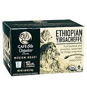 Cafe Ole by H-E-B Organics Ethiopian Yirgacheffe Medium Roast Single Serve Coffee Cups