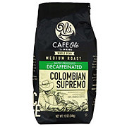 Cafe Ole by H-E-B Whole Bean Colombian Bucaramanga Supremo Decaf Medium Roast Coffee