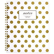 Cambridge Fashion Hardcover Business Notebook, 80 Sheets, Gold Dot