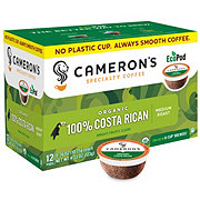 Cameron's Organic Costa Rican Medium Roast Single Serve Coffee Eco Pods