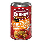 Campbell's Chunky Fajita Chicken with Rice and Beans Soup