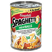 Campbell's SpaghettiOs with Meatballs A To Z's
