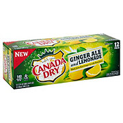 Canada Dry Ginger Ale And Lemonade 12 oz Cans