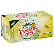 Canada Dry Lemon Lime Sparkling Seltzer Water 12 oz Cans