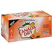 Canada Dry Mandarin Orange Sparkling Seltzer Water 12 oz Cans