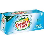Canada Dry Original Sparkling Seltzer Water 12 oz Cans