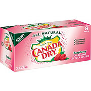 Canada Dry Raspberry Sparkling Seltzer Water 12 oz Cans