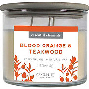 Candle-lite Candle-lite Essential Elements Blood Orange & TeakwoodWick Candle