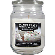 Candle-Lite Creamy Vanilla Swirl Scented Terrace Jar Candle