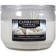 Candle-Lite Creamy Vanilla Swirl Scented  Wick Candle