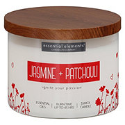 Candle-lite Essential Elements Jasmine & Patchouli Wick Candle