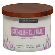 Candle-lite Essential Elements Lavender & Cedarwood Wick Candle