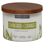 Candle-lite Essential Elements Lemongrass & Coriander Wick Candle