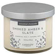 Candle-lite Essential Elements Smoked Amber & Slate Wick Candle