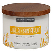 Candle-lite Essential Elements Vanilla & Sandalwood Wick Candle