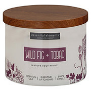 Candle-lite Essential Elements Wild Fig & Tobacco Wick Candle