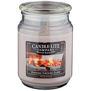 Candle-Lite Evening Fireside Glow Scented Terrace Jar Candle