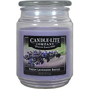 Candle-Lite Fresh Lavender Breeze Scented Terrace Jar Candle