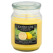 Candle-Lite Fresh Lemon Basil Scented Terrace Jar Candle