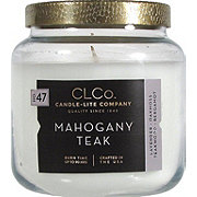 Candle-Lite Mohogany Teak Scented Candle with Textured Metal Lid