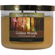 Candle-Lite Royale ClassicsWick Golden Woods Candle With Metal Lid