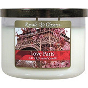 Candle-Lite Royale ClassicsWick Love Paris Candle with Metal Lid