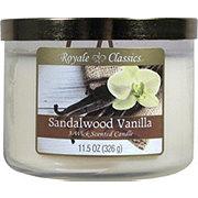 Candle-Lite Royale ClassicsWick Sandalwood Vanilla Candle with Metal Lid