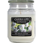 Candle-Lite Soft White Cotton Scented Terrace Jar Candle