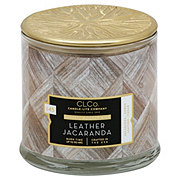 Candle-lite Woodwick Leather Jacaranda Scented Candle