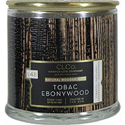 Candle-lite Woodwick Tobac Ebonywood Scented Candle